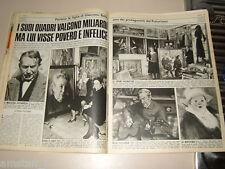 GIACOMO BALLA pittore FUTURISMO clipping ritaglio articolo foto photo 1976