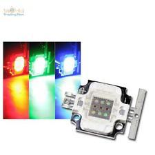 5 x Highpower LED Chip 10W RGB, ECKIG, 350mA rot grün blau Hochleistungs 10 Watt