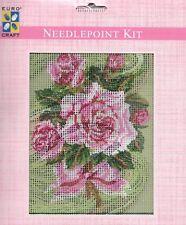 Grafitec Needlepoint Tapestry Kit - Pink Rose Bouquet