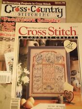 Lot of 2 Cross Stitch magazines 43 Country Craft projects & patterns  1990's