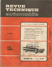 REVUE TECHNIQUE AUTOMOBILE 293 RTA 1970 ALFA GIULIA BERLINE COUPE SPIDER 1750
