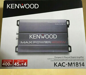 Kenwood KAC-M1814 4-Channel 400W Class D Compact Amplifier Marine Car Brand New