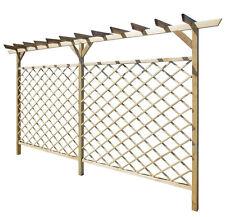 Wooden Garden Trellis Fence Structure Pergola Canopy Climbing Plants Arbors Arch