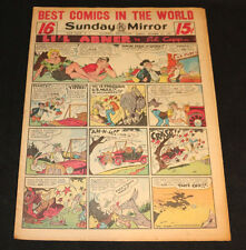 1951 Sunday Mirror Weekly Comic Section October 21st (Vf) A Lot of Superman