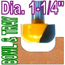 "1 pc 1/2""SH 1-1/4"" Dia Dish, Bowl & Tray Router Bit sct-888"