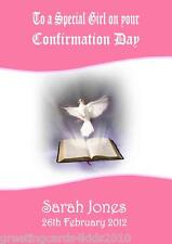 Personalised Girl Confirmation Card Design 7