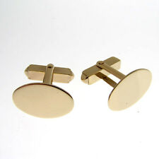 HALLMARKED SOLID 9 CARAT GOLD CUFFLINKS. 1mm thick weigh 9 grammes. ENGLISH MADE