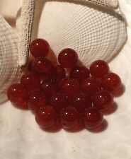 Carnelian Natural Color Round Gemstone Beads Dark Orange 8 MM  (20)