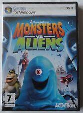 MONSTERS vs ALIENS PC DVD-ROM DREAMWORKS GAME brand new & sealed UK!