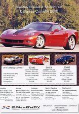 2010 Chevrolet Callaway Corvette Original Advertisement Print Car Ad J528