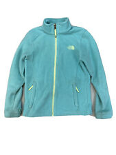 The North Face Girls Blue Long Sleeve Full Zip Fleece Jacket Sz M 10/12