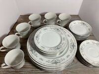 30 Pc Wade Fine Porcelain China Japan DIANE Dinnerware Set 5 Piece Service for 6