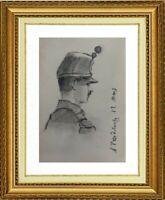 CHARLES WISLIN (1852-1932) SUPERBE PORTRAIT D'HOMME VERS 1876 (1233)