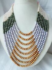 8 strands  5-6mm mix genuine cultured freshwater pearl necklace dress necklace