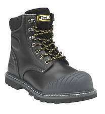 JCB 5CX+ Black Safety Boots with Side Zip S1P HRO SRC