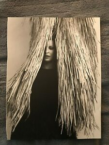Linda Evangelista ~ Grass and Dior Dress ~ 2016 Vintage Print AD B65