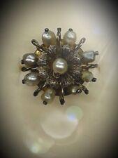 Anello in oro periodo 1800 con perle  naturali