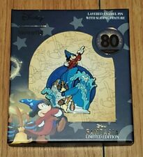 Disney Loungefly Fantasia Sorcerer Mickey 80 Years Jumbo Sliding Pin LE 2500