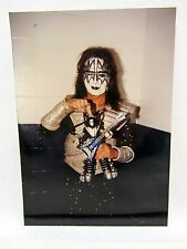 KISS ACE FREHLEY w/ Ace Frehley Kiss Figure McFarlane Toys  PHOTO 3x5 Color