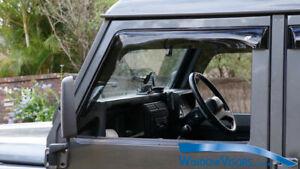 WindowVisors WeatherShields - 2pcs weather shields - for Land Rover Defender 90