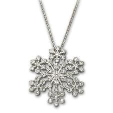 New! Swarovski Pansy Pendant Elaborately Crafted Snowflake Silhouette