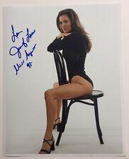 Jennifer Lavoie Playboy Miss August 1993 Autographed 8x10 Black Bodysuit #19