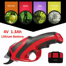 4 V Battery Electric Cordless Pruning Shears Secateur Branch Cutter Garden Tool