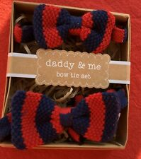 Daddy & Me Bow Tie Set Red/ Navy Striped