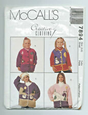 Mccalls sewing pattern child girls applique jacket age 3-14