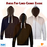AWDis Just Hoods Mens Fur Lined Chunky Zoodie Soft Cotton Full Zip Warm Hoodie