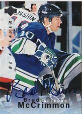 95-96 BAP Brad McCrimmon Hartford Whalers Auto