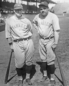 BABE RUTH and LOU GEHRIG Glossy 8x10 Photo Print Poster 1931 New York Yankees