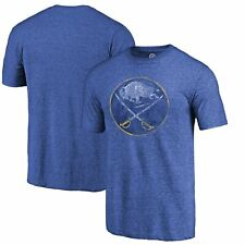 Buffalo Sabres Fanatics Branded Throwback Vintage Logo Tri-Blend T-Shirt - Royal