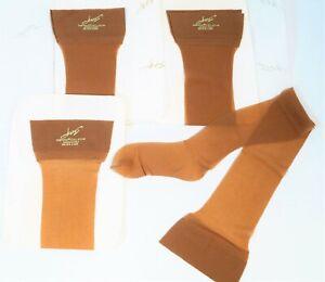 Sandalfoot taupe hold ups American stockings vintage garter top brown New brown