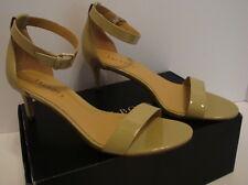 Talbots Sandals Heels Trulli Ankle Strap Patent Leather Beige New 9 M $139