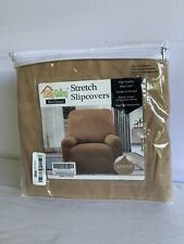 Easy-Going Recliner slipcovers, Stretch Recliner Camel