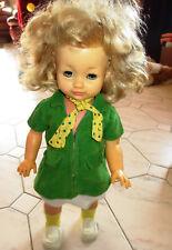 Schildkröt Puppe 70er Jahre Lauffunktion orig. Kleidung Echtleder Schulranzen