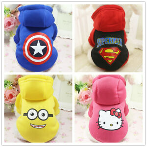 Small Boy Dog Hoodie Pet Cat Puppy Coat Pet Dog Warm Costume Clothes Super Hero
