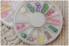 confezione rotonda 12 scomparti canes gia tagliate per fimo nail art, miste fimo