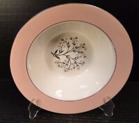"""Homer Laughlin Cavalier  Springtime Serving Bowl 9 1/2"""" CV32 Pink Excellent"""