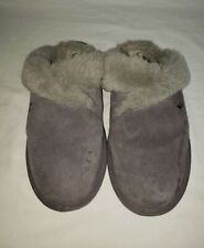 Koolaburra by UGG Womens Milo Slippers Shoes Gray Suede Size 10