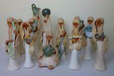 Old KALDERON 14 Ceramic Figurine Women + Attribute Israel art Ceramics Sculpture