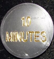 10 MINUTES Alcoholics Anonymous AA Plastic Medallion Token Poker Chips Coin