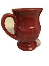 Longaberger Pottery Woven Traditions Mug Paprika Footed Pedestal Coffee Mug 16oz