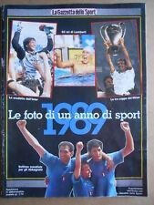 Foto di un anno di Sport 1989 Gazzetta Sport - Scudetto Inter Milan Coppe [GS50]