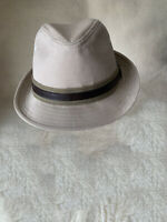 71ca3b3fdde7 COOGI Mens Fedora Hat Embroidered Logo Tiger Gray Cotton Size S M ...