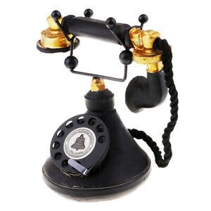1PC Vintage Style 1950's Phone Retro Rotary Dial Telephone 7111-34