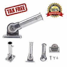 Tough Stainless Steel Flag Pole Bracket Holder Wall Mount Adjustable Stand Yard