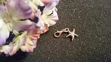 Rose Gold Starfish Dangle Charm for Living Lockets or Bracelets - US Seller