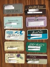 10 Vintage Expired Credit Cards For Collectors Department Stores Rare